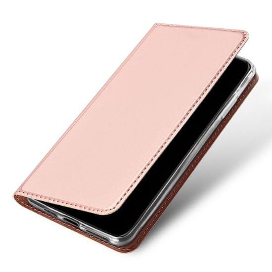 Dux Ducis Skin Pro usnjeni flip ovitek za iPhone 11 Pro, roza