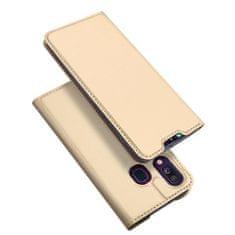 Dux Ducis Skin Pro knjižni ovitek za Samsung Galaxy A40, zlat