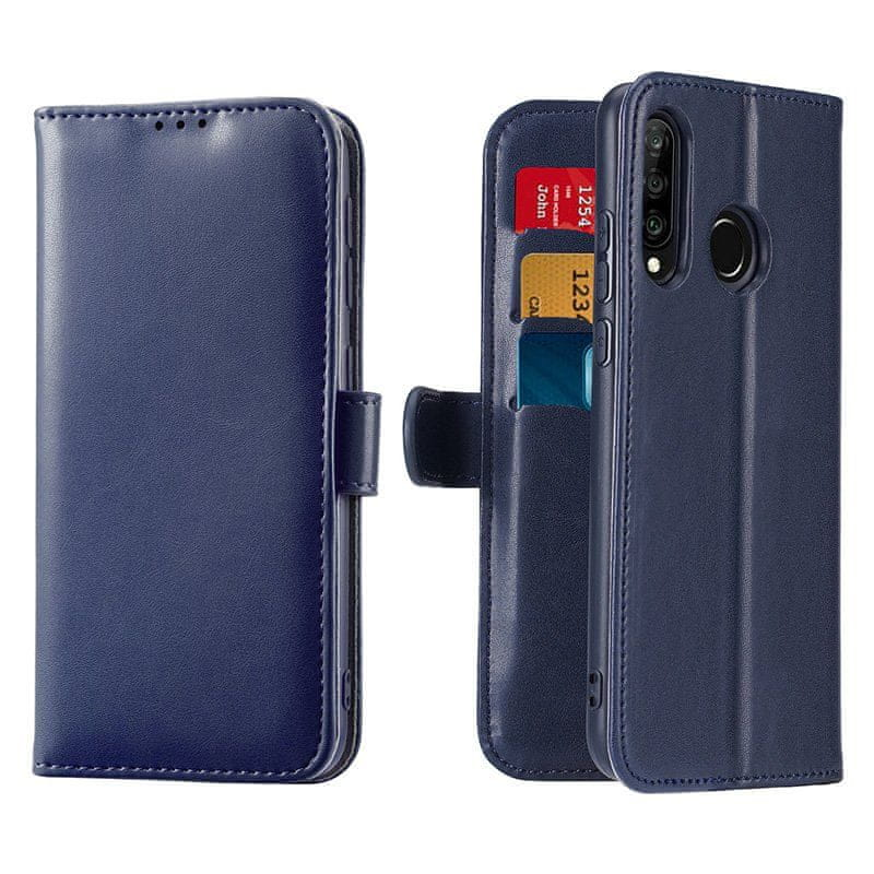 Dux Ducis Kado knížkové kožené pouzdro pro Huawei P30 Lite, modré