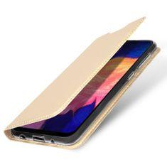 Dux Ducis Skin Pro usnjeni flip ovitek za Samsung Galaxy A10, zlat