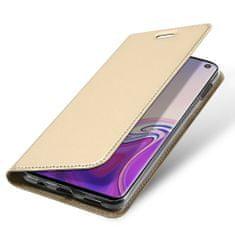 Dux Ducis Skin Pro Book usnje ovitki za Samsung Galaxy S10e, zlat