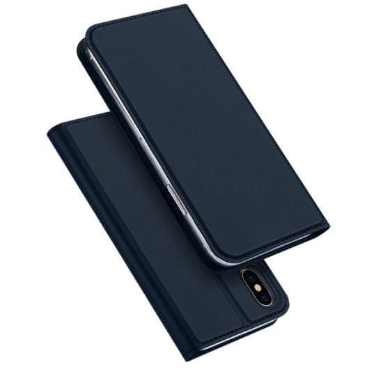 Dux Ducis Skin Pro usnjeni flip ovitek za iPhone XS / X, modra