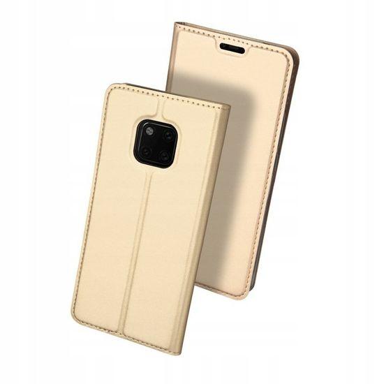 Dux Ducis Skin Pro Book usnje ovitki za Huawei Mate 20 Pro, zlat