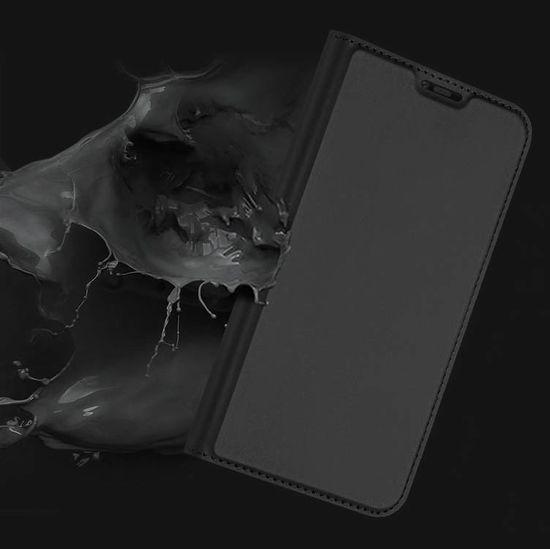 Dux Ducis Skin Pro Book usnje ovitki za Huawei Mate 20 Pro, siva