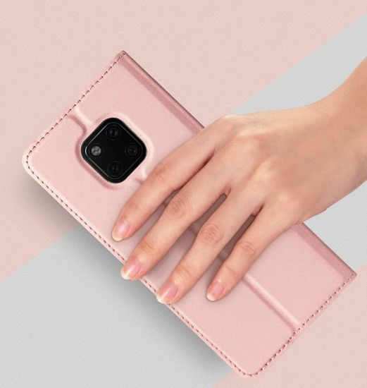 Dux Ducis Skin Pro Book usnje ovitki za Huawei Mate 20 Pro, roza