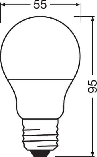 Osram LEDSCLA40 5,5W/827 230VFR E27 10X1 OSRAM