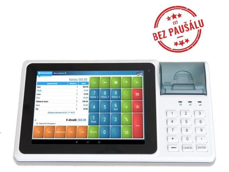 """EET-POS IDT800 EET pokladna 8"""", tiskárna 57mm, zákaznický display + SW EET-POS"""