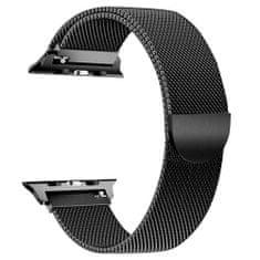 BStrap Apple Watch Milanese 42/44mm pašček, Black