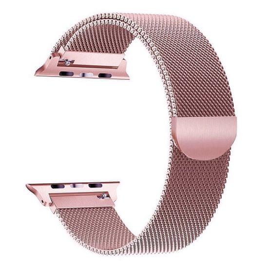 BStrap Apple Watch Milanese 38/40mm řemínek, Rose Pink