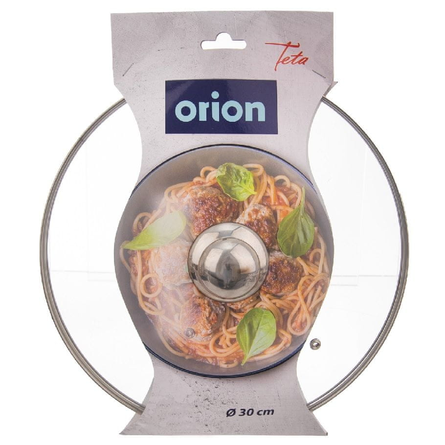Orion Poklice skleněná pr. 30 cm nerez úchyt