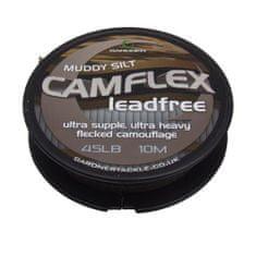 Gardner Bezolovnatá šňůrka Camflex Leadfree 10m|65lb (29,5Kg) Muddy Silt