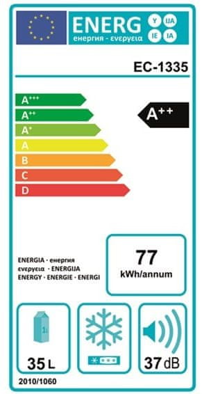 Outwell Chladnička ECOcool Slate Grey 35L 12V/230V - rozbaleno
