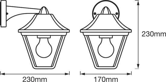 LEDVANCE LED ENDURA CLAS DOWN ALU BK/GD venkovní svítidlo
