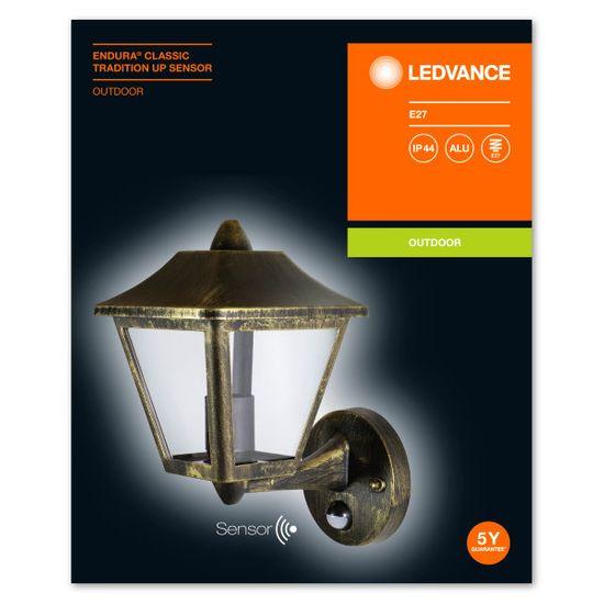 LEDVANCE LED Endura Clas UP Sensor ALU BK/GD zunanje svetilo