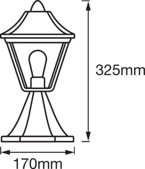 LEDVANCE LED Endura Clas ALU BK/GD 33 cm, zunanje svetilo