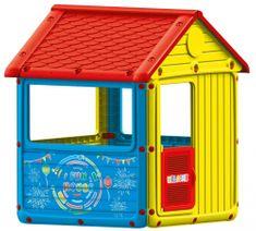 DOLU ogrodowy domek dziecięcy, plastikowy, niebieski