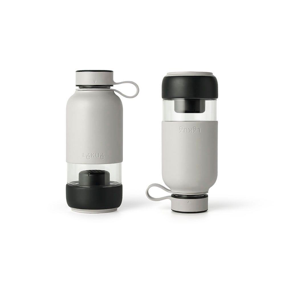 Lékué Láhev s uhlíkovým filtrem Lékué Bottle To Go 600 ml   šedá
