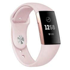 BStrap Fitbit Charge 3 Silicone (Small) szíj, Apricot