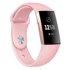 BStrap Fitbit Charge 3 Silicone (Small) szíj, Sand Pink