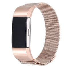 BStrap Fitbit Charge 2 Milanese (Large) szíj, Rose Gold