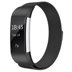 BStrap Fitbit Charge 2 Milanese (Large) szíj, Black