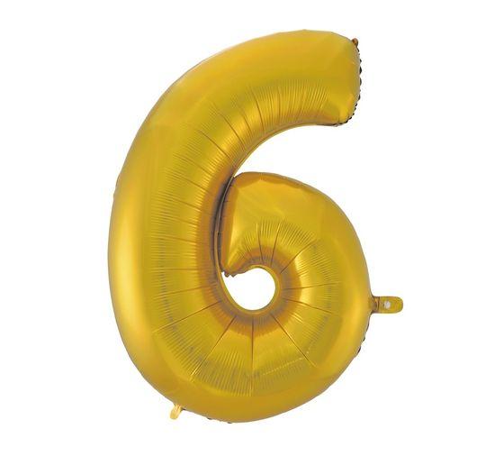 GoDan Léggömb fólia száma 6 - arany matt - 92 cm