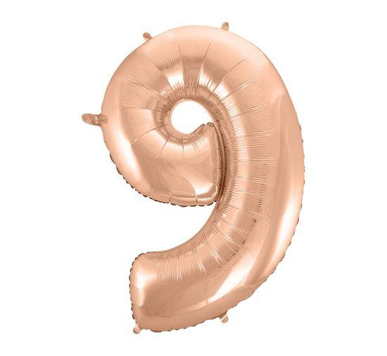 GoDan Folijski balon številka 9 - rožno zlato - 92 cm