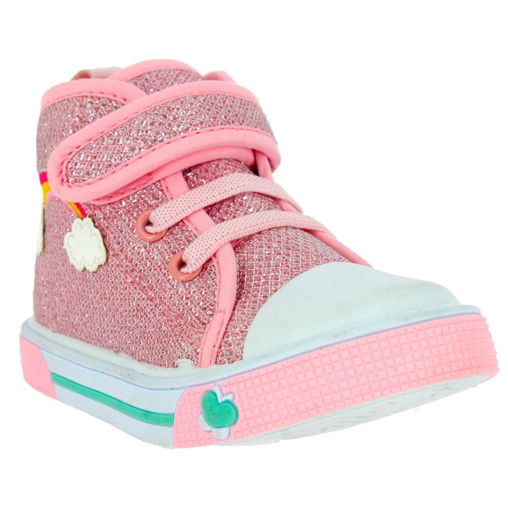 V+J dětská obuv 130-0036-X1 24 růžová