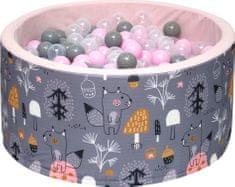 iMex Toys 3430 Suchý bazén s míčky Mystery forest Pink