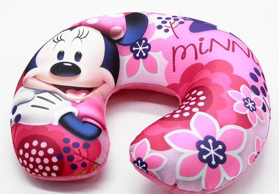 """SETINO Dekliški potovalni vzglavnik """"Minnie Mouse"""" - 28x34cm - roza"""
