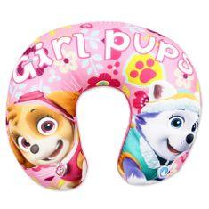 """SETINO Poduszka podróżna dla dziewczynki """"Psi Patrol"""" - 28x34cm - różowy"""