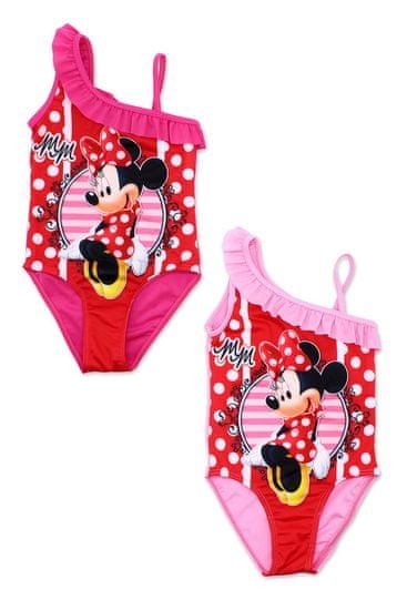 "SETINO Dekliške enodelne kopalke ""Minnie Mouse"" - rdeča/roza"