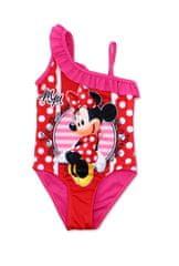 """SETINO Dekliške enodelne kopalke """"Minnie Mouse"""" - rdeča / fuksije - 128 / 7–8 let"""
