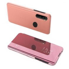 MG Clear View knjižni ovitek za Xiaomi Redmi Note 8T, roza