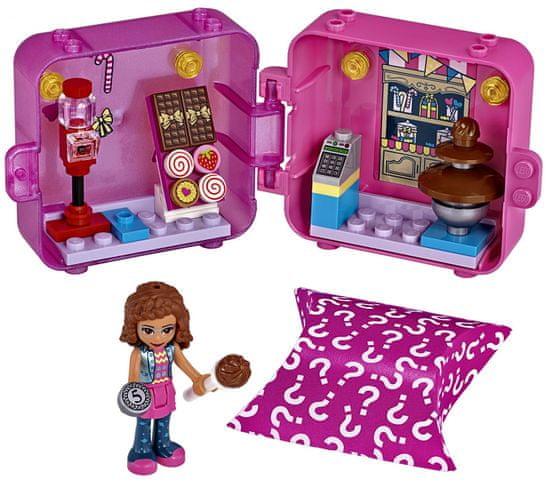 LEGO Friends 41407 Igralna škatla: Olivia in slaščice.