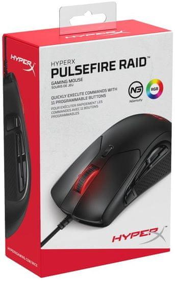 HyperX Pulsefire Raid gaming miška, USB (HX-MC005B)