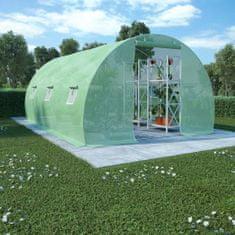 shumee Skleník s ocelovou konstrukcí 13,5 m² 450 x 300 x 200 cm