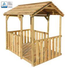Zahradní domeček na hraní 122,5 x 160 x 163 cm borové dřevo