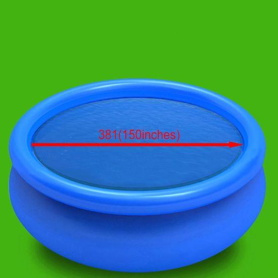 shumee Pływająca, okrągła folia, pokrywa solarna PE, 381 cm, niebieska