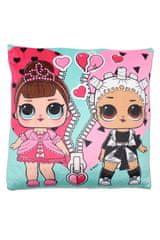 """SETINO Poduszka dla dziewczynki """"LOL"""" - 40x40cm - różowy"""