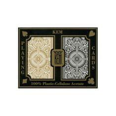 KEM Pokrové karty Black/Gold wide 100% plastové, 2 balíčky