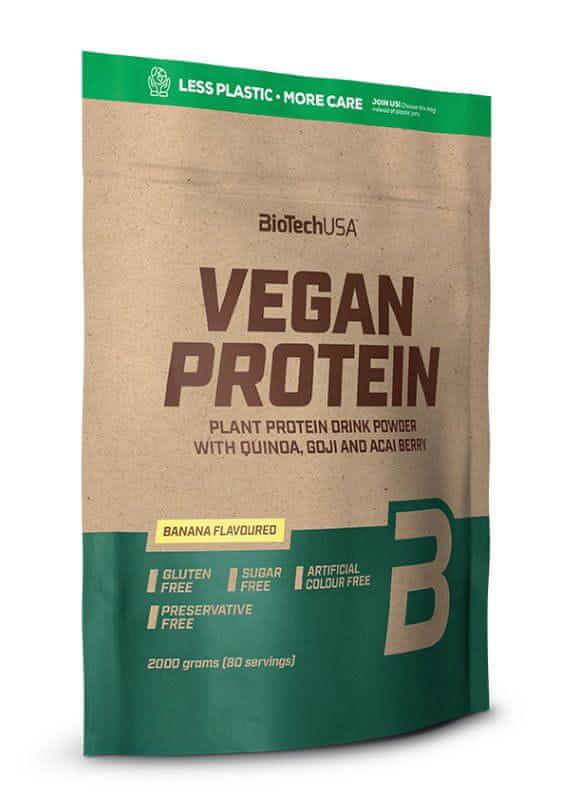 BioTech USA Vegan Protein 2000 g lískový oříšek
