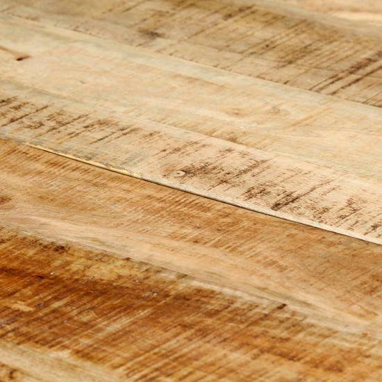 shumee Jedilna miza 140x70x75 cm trden robusten mangov les