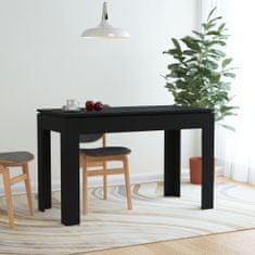 shumee Jedilna miza črna 120x60x76 cm iverna plošča