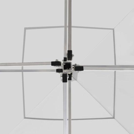 shumee fehér összecsukható alumínium rendezvénysátor falakkal 2x2 m
