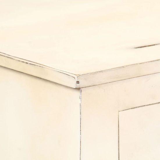 shumee Komoda bela 160x40x80 cm Masiven les iz manga