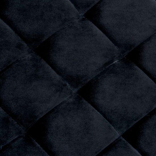 shumee Lavica 97 cm, čierna, zamatová látka a nehrdzavejúca oceľ