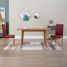 shumee Jedilni stoli 2 kosa rdeče umetno usnje
