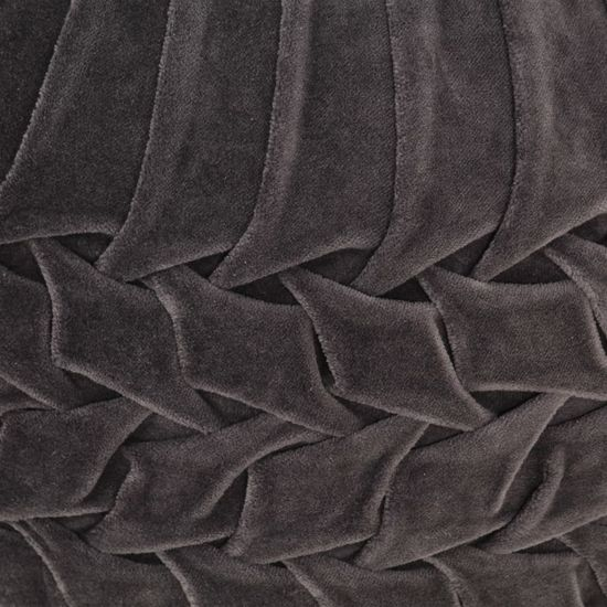 Greatstore Taburetka antracitová 40x30 cm bavlnený zamat nariasený dizajn