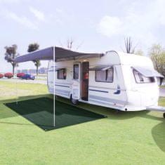 shumee Preproga za šotor HDPE 250x600 cm zelena